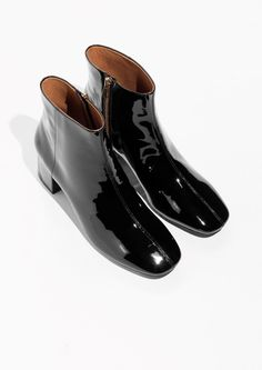 & Other Stories image 2 of Patent Leather Ankle Boots in Black