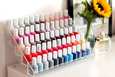 Ideas for makeup storage diy vanity nail polish