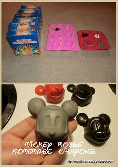 Mickey Mouse Homemade Crayons (what you need) great party favor