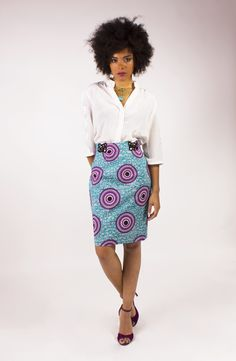 Ineska Créations lookbook Access 2015 - Pagnifik African Print Skirt, African Fabric, African Prints, African Fashion Dresses, African Dress, African Style, Shirt Skirt, Skirt Pants, Unique Outfits
