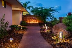 Flame and Water Feature, Kukio, Hawaii