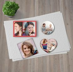Here's a repost of a design insporation blog post on how to create affordable art using photo magnets!