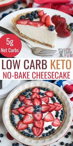 An easy to make keto low carb no bake cheesecake is the perfect dessert for summer. It holds up well in the summer heat with no need to turn the oven on. Low Carb Sweets, Low Carb Desserts, Low Carb Recipes, Baking Recipes, Snack Recipes, Dessert Recipes, Healthier Desserts, Yummy Recipes, Snacks