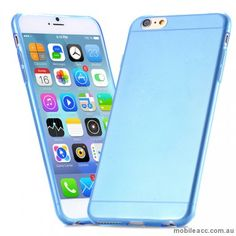 TPU Gel Case Cover for iPhone 6/6S - Transparent Blue only $4.95 http://www.mobileacc.com.au/TPU-Gel-Case-Cover-for-iPhone-6-47-Blue