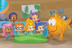 Bubble Guppies by Nickelodeon: Under the leadership of teacher Mr. Grouper, the Bubble Guppies use their thinking skills to have fun and explore different subjects. tinyurl.com/6vkzbgg  #Kids #Educational_TV #Bubble_Guppies #Nickelodeon