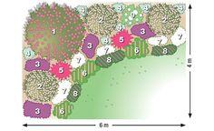 Der Maiblumenstrauch sorgt mit seiner überreichen Blüte für romantische Stimmung im Wonnemonat Mai. Hier haben wir vier Exemplare mit farblich passenden Blütenstauden schön in Szene gesetzt.