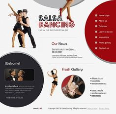 Salsa Dancing Flash Templates by Delta Dance Class, Dance Studio, Flash Templates, Ecommerce Website Design, Salsa Dancing, Learn To Dance, Web Design Inspiration, Website Template, Web Development