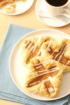 Apple Butter Cream Cheese Danishes with puff pastry dough