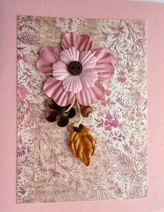 The right piece of background paper can make almost any card look good; but this floral piece could probably stand on its own...