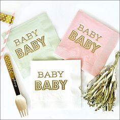 Baby Shower Gold Foil Napkins Set of 50