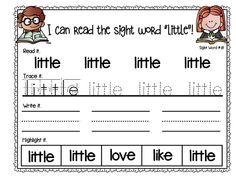 Sight Word Fluency Essentials Read It, Trace It, Write It, Highlight It