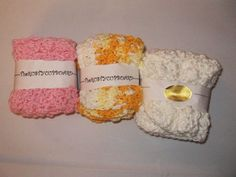 Homemade  Crocheted Dishcloths...3 packages of 2 by rustycupboard