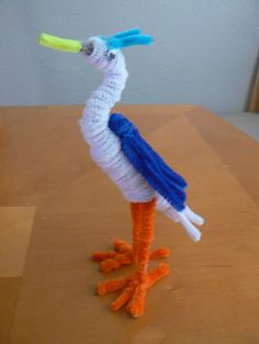 31 pipe cleaner heron http://hative.com/pipe-cleaner-animals-for-kids/