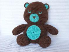 Crochet Bear Bear Stuffed Animal in Brown and by NikkisCraftShoppe