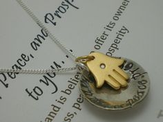 Happiness and Good Fortune quote necklace   www.shopalloyjewelry.com