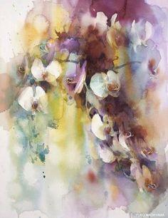 yuko nagayama i watercolor artist Watercolor Artist, Watercolor And Ink, Watercolor Flowers, Painting Flowers, Art Floral, Art Aquarelle, Japanese Artists, Abstract Flowers, Anime Comics