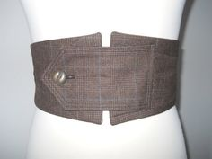 Pam's Upcycled Brown Steampunk Belt
