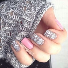 Cute winter nails.