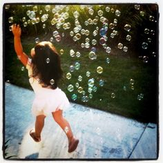 my sweet gbabies love to chase bubbles like this