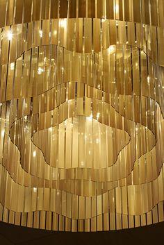 Fairmont Baku, Flame Towers by Lasvit Fairmont Baku, Fairmont Hotel, Cool Lighting, Modern Lighting, Lighting Design, Ceiling Hanging, Ceiling Lights, Luz Natural, String Curtains