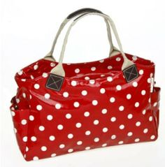 LADIES POLKA DOT SADDLE BAG SHOULDER TOTE HANDBAG SATCHEL TRAVEL WOMENS NEW RED [UK & IRELAND] Price:£15.49