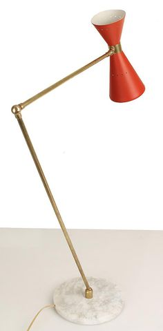 Mid Century Modern Desk or Table Lamp with Adjustable Arm.