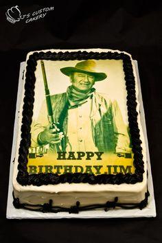 John Wayne Birthday Cake- JJ Custom Cakery Cranbrook