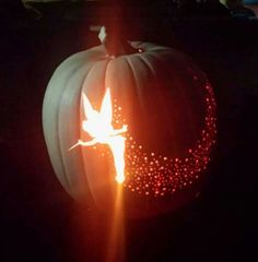 Tinkerbell pumpkin carving, so pretty!