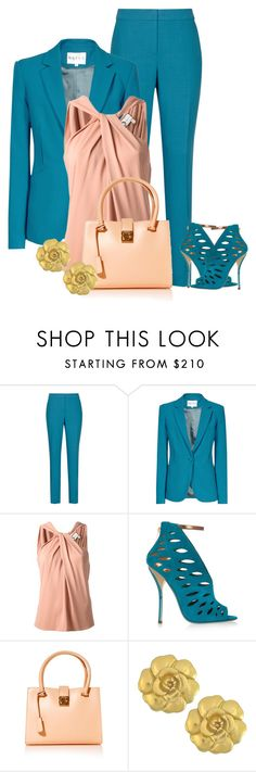 """Chic workwear!!"" by gigim909 ❤ liked on Polyvore featuring Reiss, Lanvin, Jimmy Choo, Salvatore Ferragamo and Vintage"