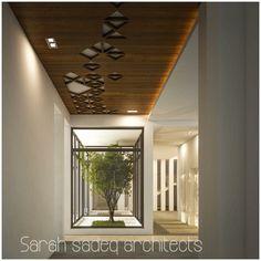 Wooden Ceiling Design, House Ceiling Design, Ceiling Design Living Room, False Ceiling Bedroom, Wooden Ceilings, Ceiling Decor, Apartment Interior Design, Decor Interior Design, Interior Decorating