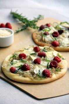 raspberry & brie flatbreads: