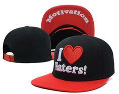 1pc/lot I Love Haters Snapback hats fashion hip hop headwear cheap mens women baseball caps 4 styles hip-hop cap Free Shipping $9.99