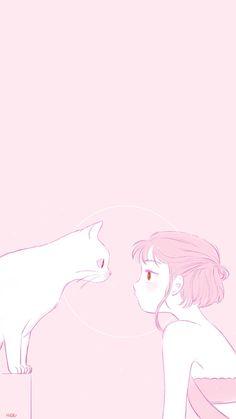 in 2019 cute anime wallpaper, kawaii wallpaper, cute. Soft Wallpaper, Cute Anime Wallpaper, Cute Cartoon Wallpapers, Cute Wallpaper Backgrounds, Pretty Wallpapers, Kawaii Drawings, Cute Drawings, Aesthetic Anime, Aesthetic Art