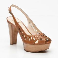 Open Toe Platform Heels in Camel - these would go with tons of outfits.