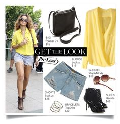 """""""Get the Look-Rihanna in Rio"""" by bo-jane ❤ liked on Polyvore"""