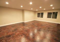 Painted Concrete Floors   Painting A Concrete Floor For Basement Studio   Painting  Concrete .