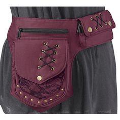 Cross-Laced Hip-Belt Bag - Women's Clothing & Symbolic Jewelry – Sexy, Fantasy, Romantic Fashions