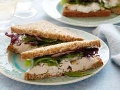 Herbal Chicken Salad Sandwiches #myplate #protein #starch