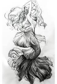 Afbeeldingsresultaat voor mermaid tail drawing
