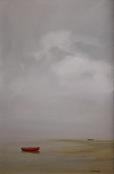 Misty Afternoon by Anne Packard Seascape Paintings, Landscape Paintings, Boat Painting, Nautical Art, Impressionist Art, Coastal Art, Art For Art Sake, Ciel, Abstract Landscape