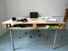 Pallet desk #Desk, #Office, #Pallet