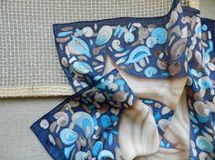 Hand painted silk scarf  Seashells. Made to by ArmeniaOnSilk