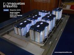 Scale model 1:300 Buildin - Gibraltar