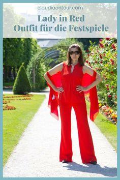 Zu den Salzburger Festspielen kann man auch einen eleganten 2-Teiler mit Hose tragen. #fashion #50plus #festival