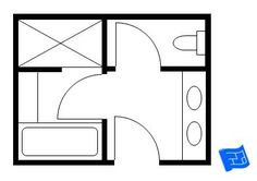 bathroom layout Another luxurious master bathroom floor plan with separate areas for the wet zone and toilet. Bathroom Layout Plans, Master Bathroom Layout, Bathroom Floor Plans, Laundry In Bathroom, Bathroom Flooring, Master Bathrooms, Bathroom Tubs, Dyi Bathroom, Concrete Bathroom