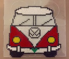 Billedresultat for vw beetle hama perler Bead Crochet Patterns, Hama Beads Patterns, Loom Patterns, Beading Patterns, Cross Stitch Patterns, Pearler Beads, Fuse Beads, Van Vw, Beaded Banners