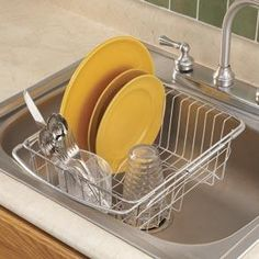 Stainless Steel Dish Drying Rack Drainer Counter Sink Space Movable Drain  Board #EsyLife   Living Space   Pinterest   Dish Drying Racks, Sinks And  Steel