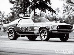 1969 Ford Mustang Super Cobra Black White 3