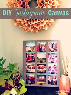DIY Instagram Canvas Art via craftsunleashed.com