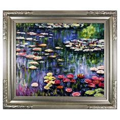 Water Lilies I by Monet Framed Canvas Reproduction